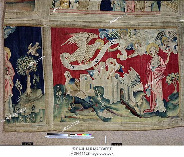 La Tenture de l'Apocalypse d'Angers, Quatrième trompette : l'aigle de malheur 1,56 x 2,O8m