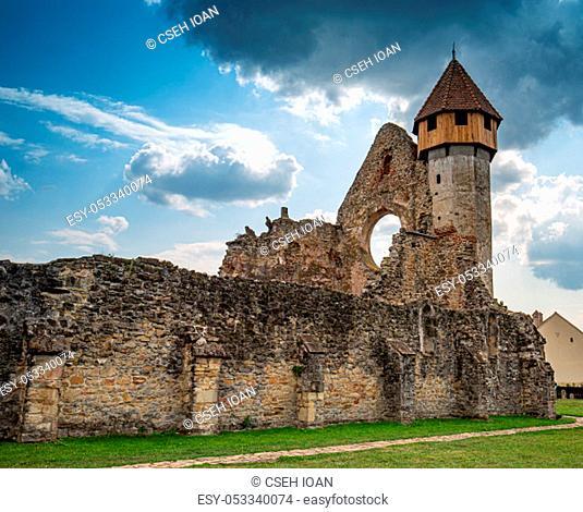 Ruins of medieval Cistercian abbey in Transylvania, Romania. Carta, Sibiu