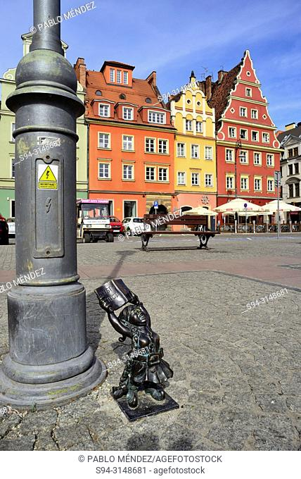 Salt square (Plac Solny) in Wroclaw or Breslau, Poland