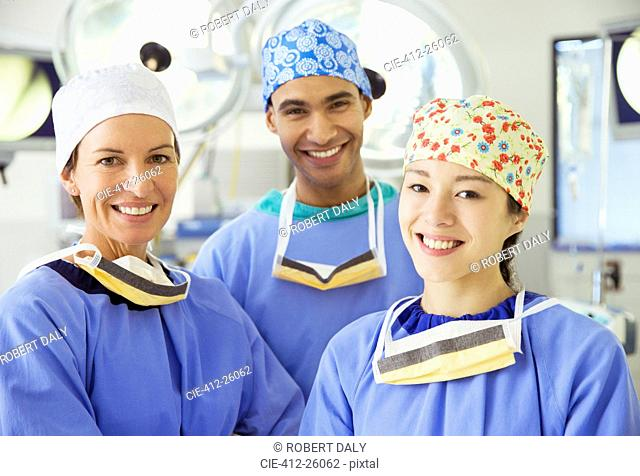 Portrait of smiling surgeons