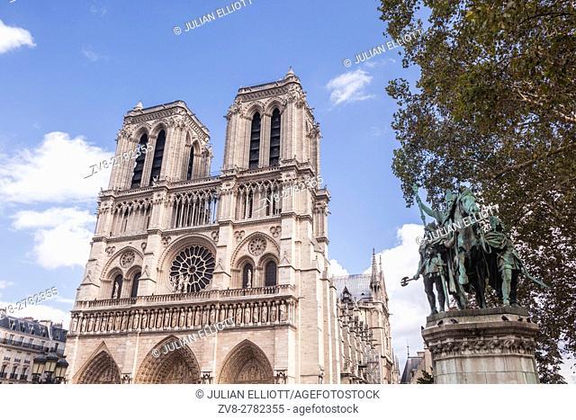 Notre Dame de Paris cathedral in France