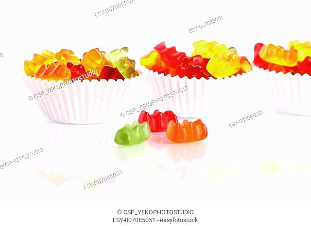 Colorful gummy bear candies