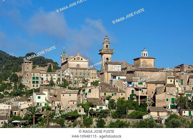 Mallorca, Balearics, Valldemosa, architecture, cartuja, Chopin, church, city, island, landscape, Mediterranean, Spain, Europe, touristic, travel, valley