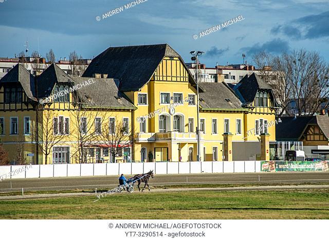 Trabrennbahn Krieau (Krieau Race Track), horse racing track, Leopoldstadt district, Vienna, Austria