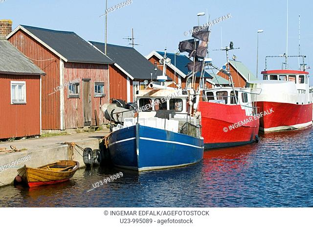 A small fishing harbour in the Baltic sea