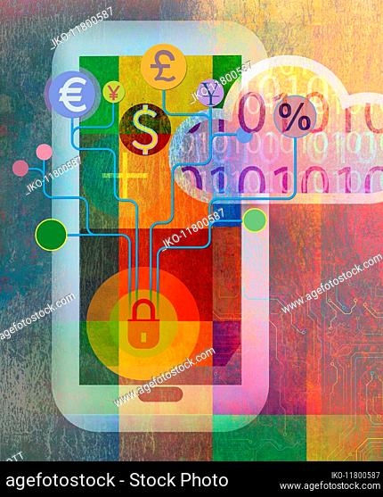 Online banking using smart phone and cloud computing