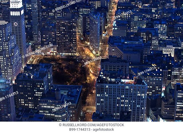 Fifth Avenue Flat Iron Building Manhattan New York City USA