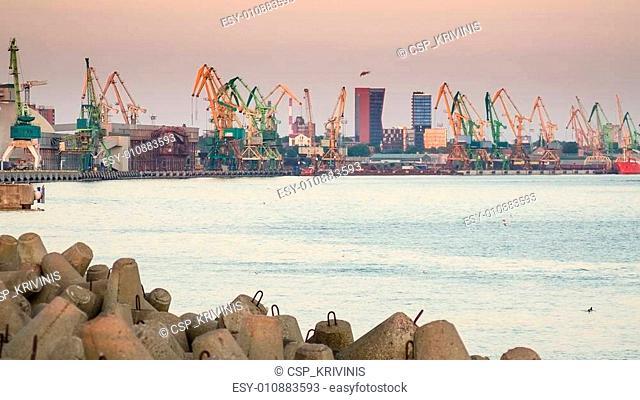 Pier in Klaipeda, Lithuania