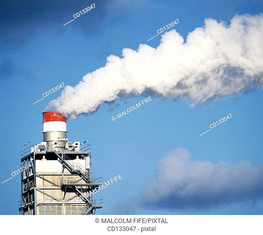 Factory chimney. Ayrshire. Scotland