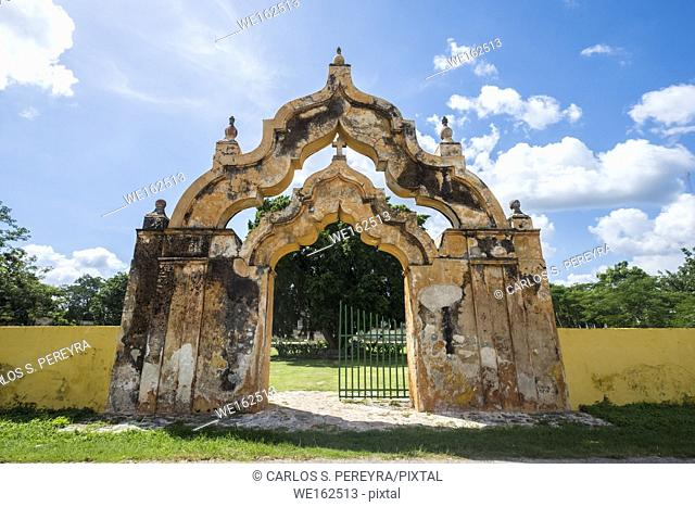 Hacienda Yaxcopiol, now is a museum, in the state of Yucatan in Mexico