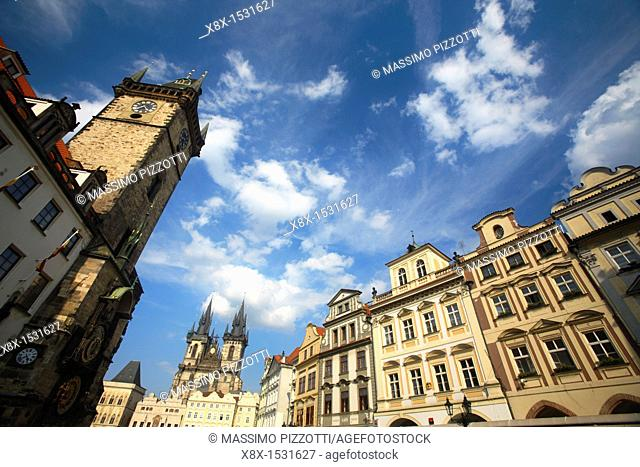 Old Square and the Astronomical Clock Tower, Prague, CZ