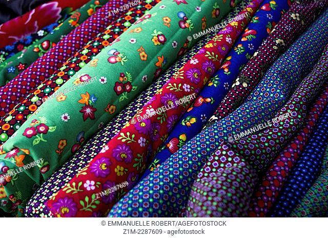 Textile, muong khong market, Vietnam