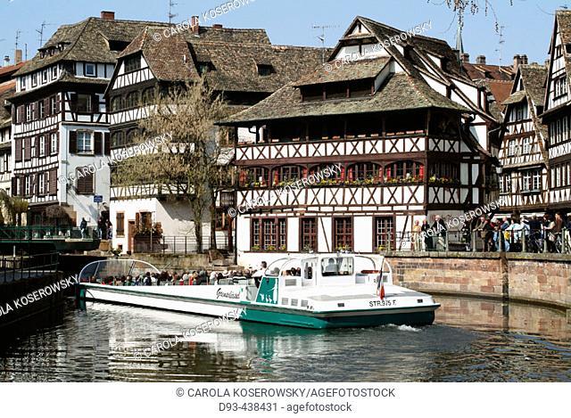 La Tannerie quarter, Strasbourg, Wine Route, Alsace, France