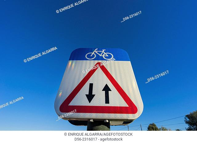 traffic sign, Valencia, Spain