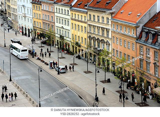 Krakowskie Przedmiescie street - so called Royal Tract, Warsaw, Poland, Europe