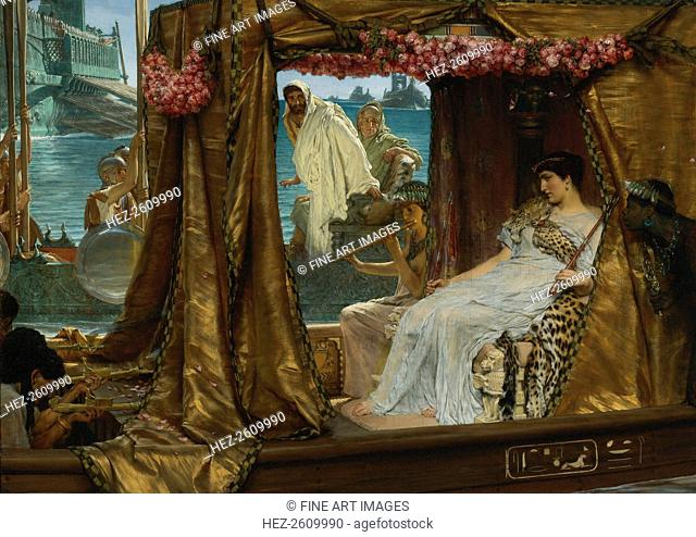 The Meeting of Antony and Cleopatra, 1885. Artist: Alma-Tadema, Sir Lawrence (1836-1912)