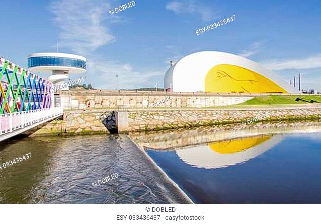 View of Niemeyer Center building, in Aviles, Spain, on December 09, 2012. The cultural center was designed by Brazilian architect Oscar Niemeyer