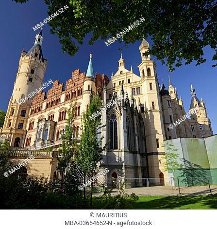 Schwerin Castle, terracotta plates, Schwerin (capital), Mecklenburg-Western Pomerania, Germany