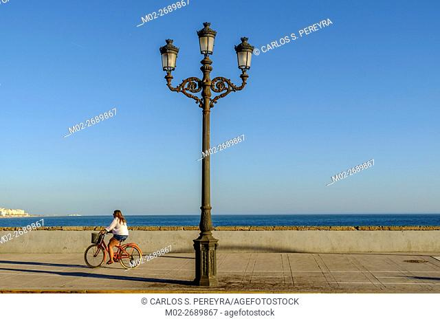 Avenida Campo del Sur avenue in the shoreline of Cadiz, Andalusia, Spaiin