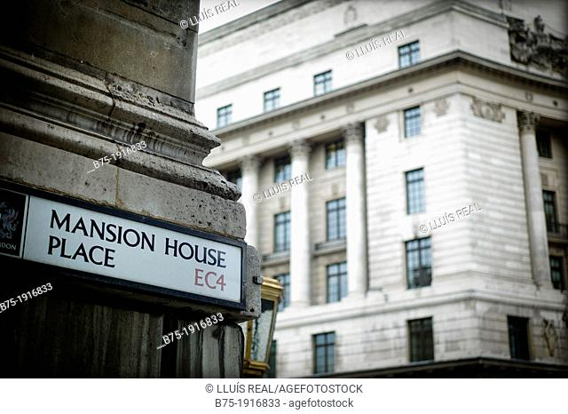 Mansion House Place, EC4, Bank, City of London, England, UK, Financial Center buildings