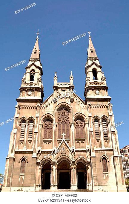 Church in Aviles, Asturias, Spain