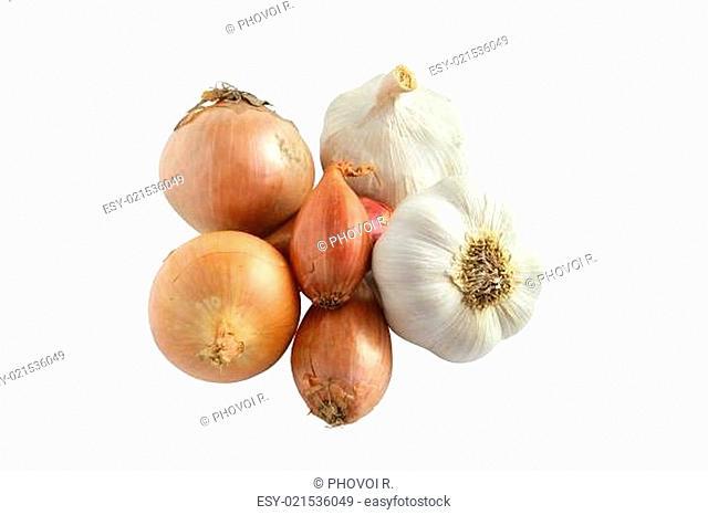 Garlic, onions and shallots