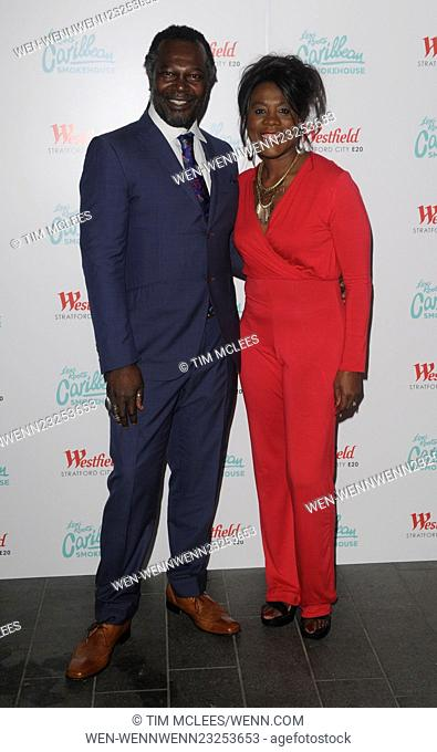 Various celebrities attend Levi Roots Caribbean Smokehouse restaurant launch party Featuring: Levi Roots, Keith Graham, Tessa Sanderson Where: London