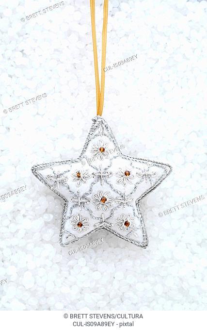 White star shaped christmas decoration