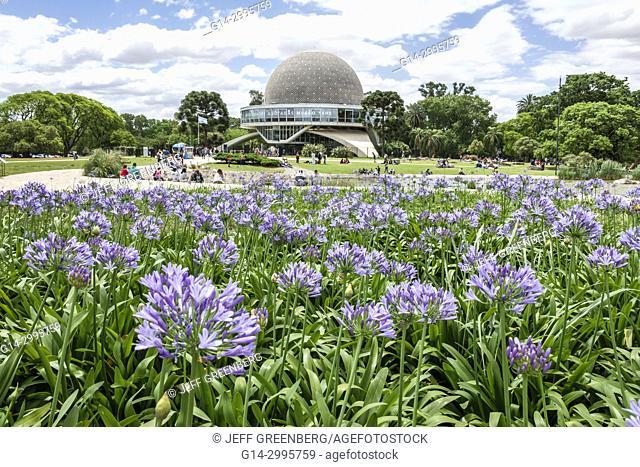 Argentina, Buenos Aires, Bosques de Palermo, Parque 3 de Febrero, public park, Planetario Galileo Galilei planetarium, garden, building, dome