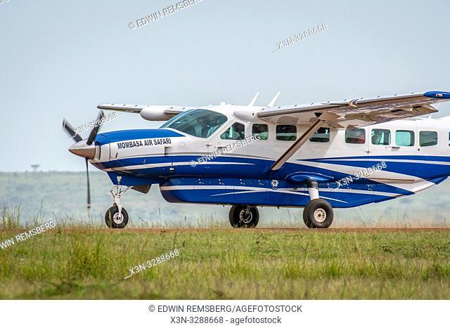 An airplane for Mombasa Air Safari in the Maasai Mara National Reserve, Kenya
