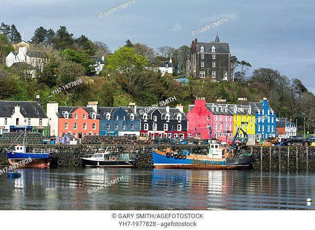 View of the Harbour at Tobermory. Isle of Mull, Inner Hebrides, Scotland