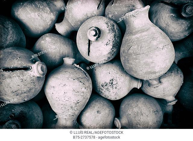 Earthen piggy banks. Chaouen, Morocco
