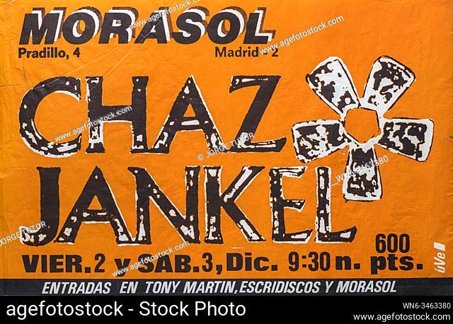 Chaz Jankel, Morasol Madrid 1983, Musical concert poster