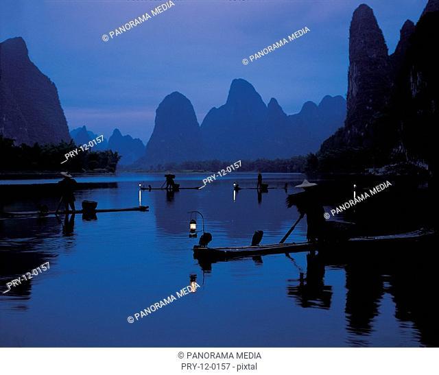 the night scene,river,China