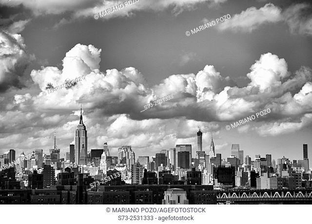 Empire State Building and NYC Skyline, Manhattan, USA