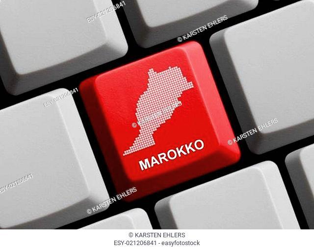 Marokko - Umriss auf Tastatur