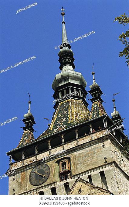 Romania, Transylvania, Sighisoara, Medieval Citadel, Clock Tower, History Museum