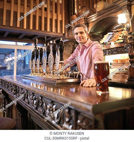 Landlord in English pub