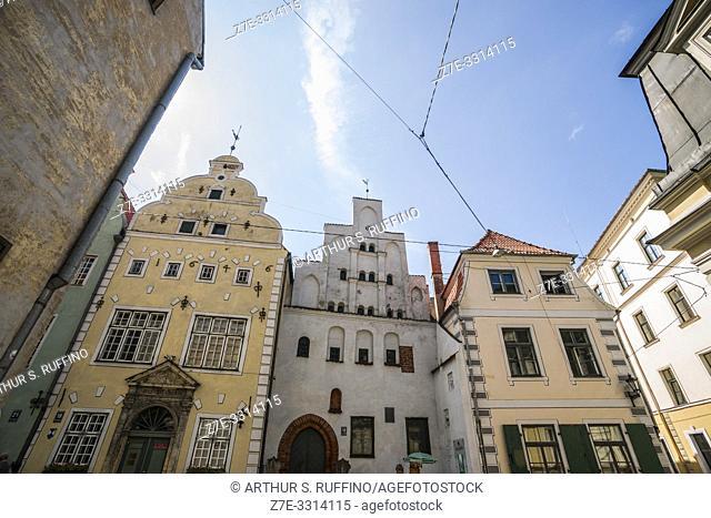 The architecture of Riga. Old Town. Riga, Latvia, Baltic States, Europe