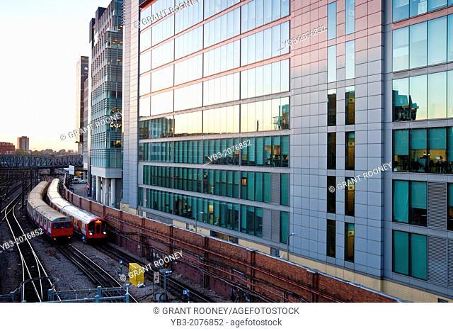 Train Arriving Into Paddington Station, London, England