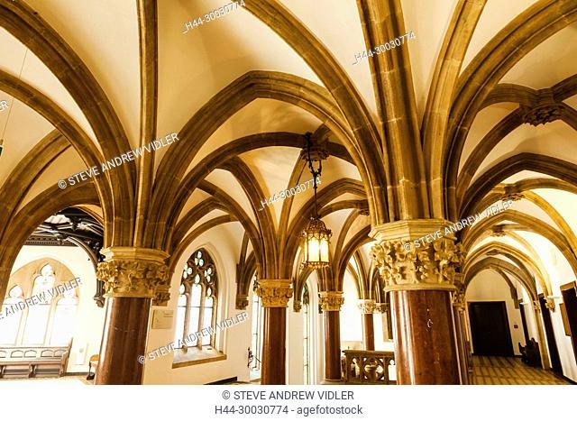 Germany, Bavaria, Munich, Marienplatz, The New Town Hall aka Neus Ratshaus, Interior View of Hallways