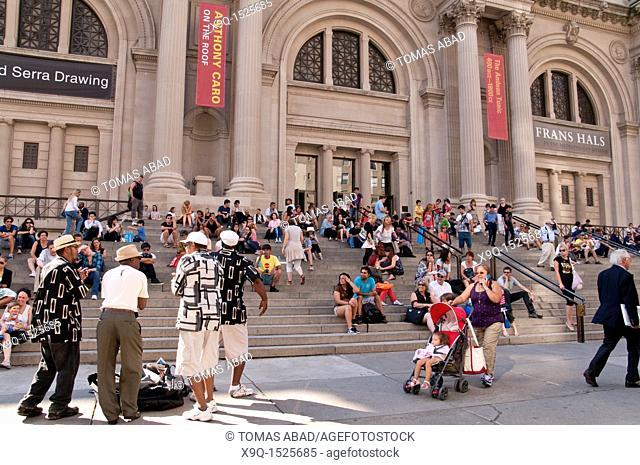Metropolitan Museum of Art, Entrance, Manhattan, 5th Avenue, New York City, USA