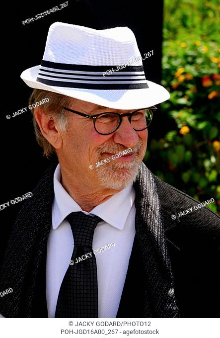 """Steven Spielberg arriving in Cannes for his film """"""""The BFG"""""""" 69th Cannes Film Festival May 14, 2016"""