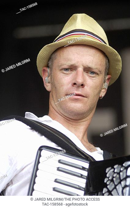 PJ Smith of Flogging Molly performs at the 2007 Vans Warped Tour at the Coors ampitheatre in Chula Vista, CA