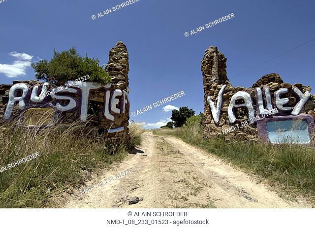 Low angle view of a dirt road, Rusters Valley, Free State Province, South Africa