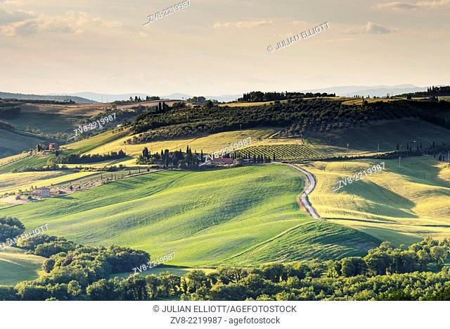 Scenery near to Monticchiello, Tuscany. The area is part of the Val d'Orcia and is under the protection of UNESCO as a World Heritage Site
