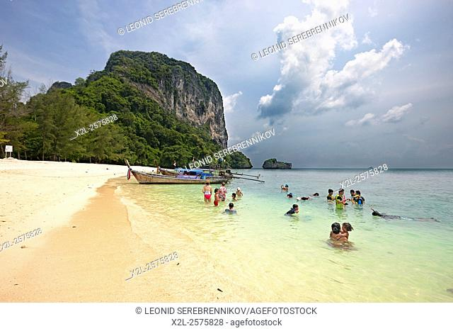 Beach on Poda Island (Koh Poda). Krabi Province, Thailand