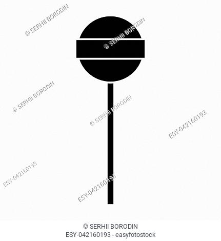 Lollipop it is black color icon