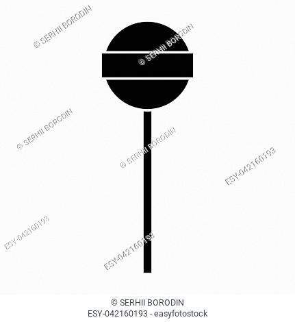 Lollipop it is black color icon