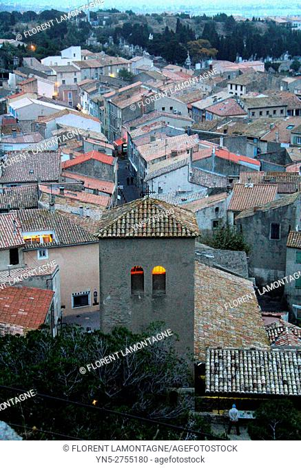 View on roofs of village of Gruissan, Aude, Languedoc roussillon